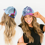 CC Navy Tie Dye Ponytail Baseball Cap - Arrow Twenty Two
