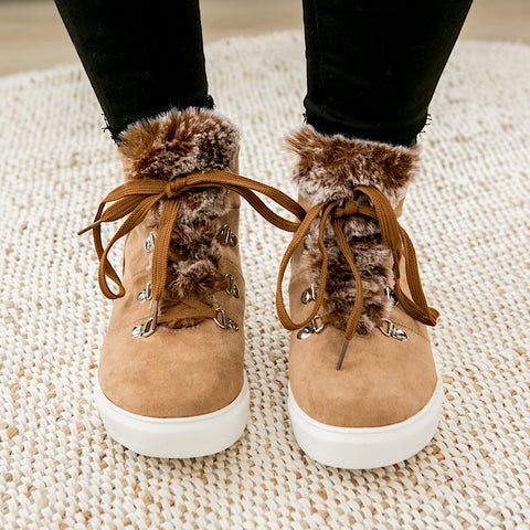 NEW! Shayne Fur Bootie - Tan - Arrow Twenty Two