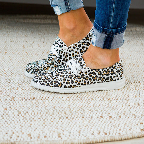 NEW! Gypsy Jazz Cheetah Slip on Sneaker - White Tan