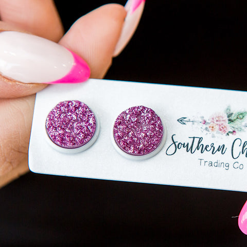 NEW! Lilac Sparkle Earrings - Arrow Twenty Two