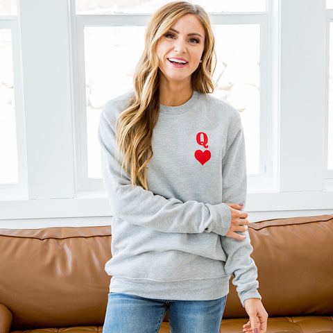 NEW! Queen of Hearts Gray Sweatshirt