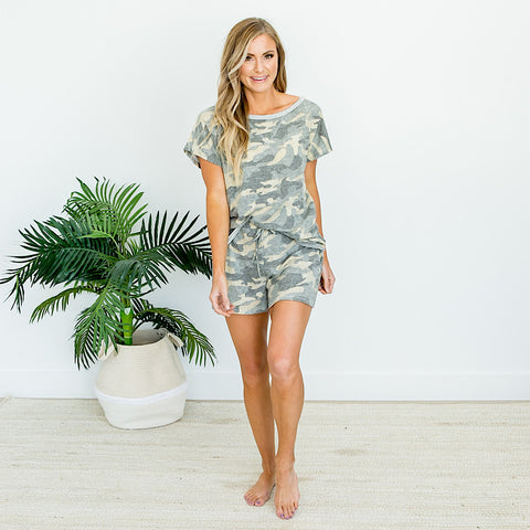NEW! Faded Camo Top