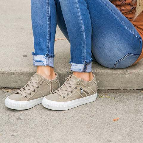 NEW! Blowfish Melondrop Taupe Wedge Sneaker