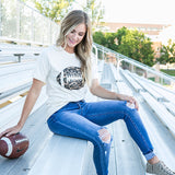 Leopard Football Cream Tee - Arrow Twenty Two