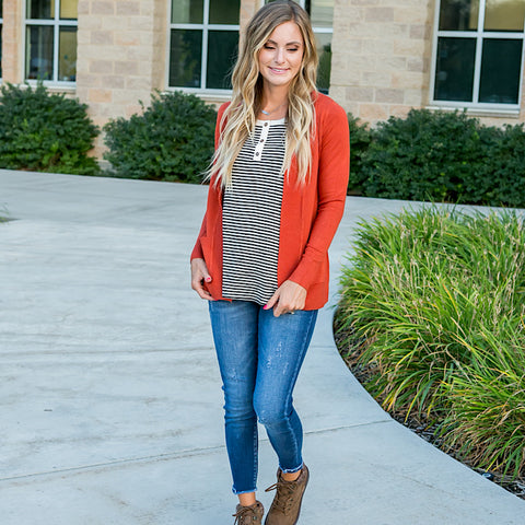 NEW! Favorite Cardigan - Rust