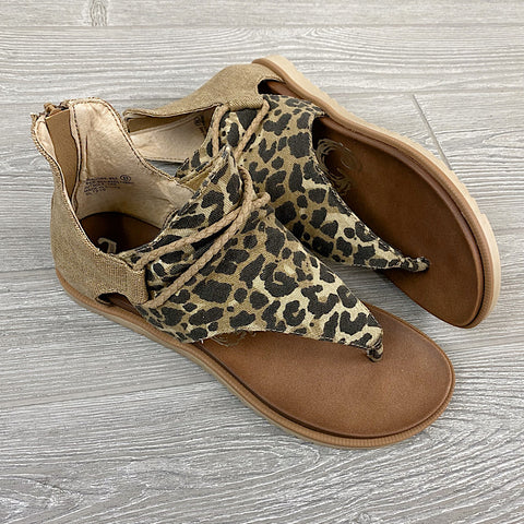 NEW! Very G Angelika Tan Leopard Sandals