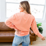 Bailey Sunburst Orange Burnout Favorite Sweatshirt - Arrow Twenty Two