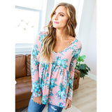 Melissa Pink Floral Babydoll Top - Arrow Twenty Two