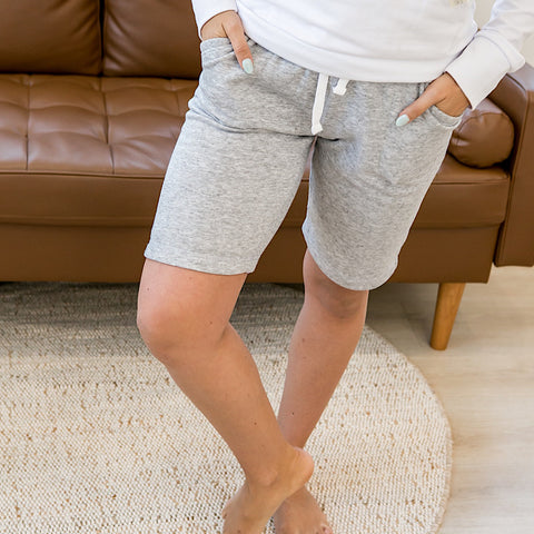 NEW! Heather Gray Comfy Bermuda Shorts