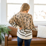 NEW! Alexis Mocha Leopard Sweater - Arrow Twenty Two