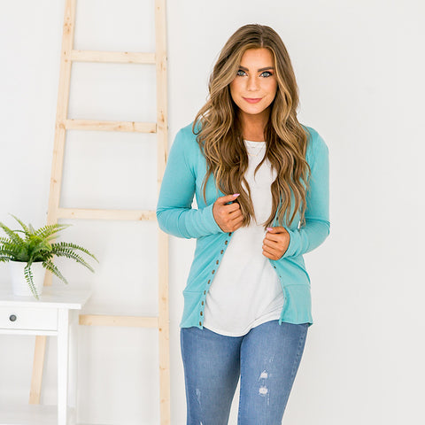 Mint Snap Cardigan