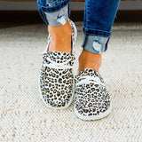 NEW! Gypsy Jazz Cheetah Slip on Sneaker - White Tan - Arrow Twenty Two