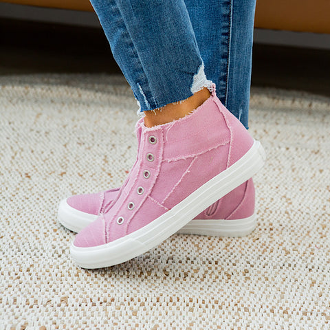 NEW! Gypsy Jazz Grayson High Top Sneaker - Pink - Arrow Twenty Two