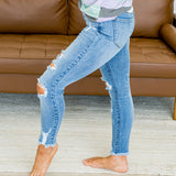 NEW! KanCan Distressed Medium Wash Fray Hem Jeans - Arrow Twenty Two