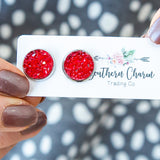 NEW! Red Sparkle Earrings - Arrow Twenty Two