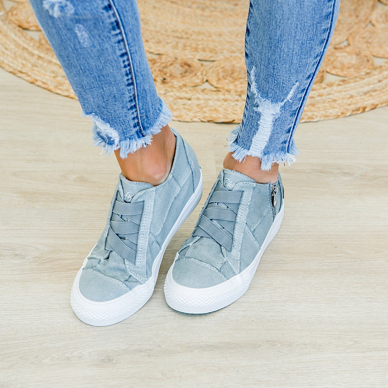 Blowfish Mamba Sweet Gray Wedge Sneaker - Arrow Twenty Two