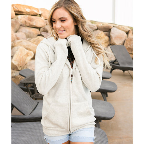 NEW! Favorite Oatmeal Full Zip Hoodie