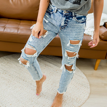 NEW! KanCan Acid Wash Distressed Jeans