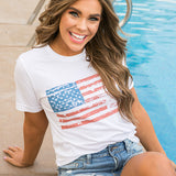 Distressed Flag Tee - Arrow Twenty Two