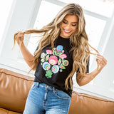 NEW! Bright Floral Black Tee - Arrow Twenty Two