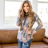 NEW! Vanessa Navy Floral Snap Button Top - Arrow Twenty Two