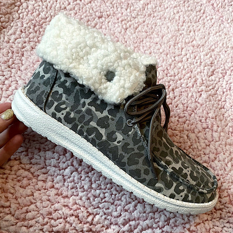 NEW! Odette Gray Leopard Bootie - Arrow Twenty Two