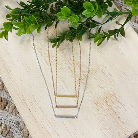Bar Necklace - 3 Colors!