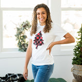 Red and Black Buffalo Plaid Tree Tee - Arrow Twenty Two