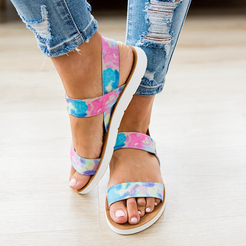 NEW! Very G Ella Sandal - Tie Dye - Arrow Twenty Two