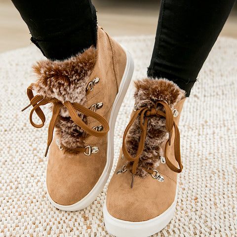 NEW! Shayne Fur Bootie - Tan