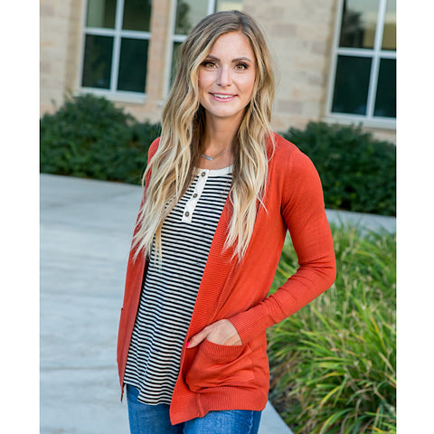 NEW! Favorite Cardigan - Rust - Arrow Twenty Two