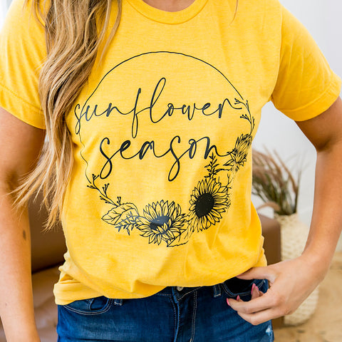 Gold Sunflower Season Tee - Arrow Twenty Two