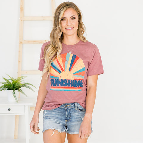 Sunshine Ray Mauve Tee