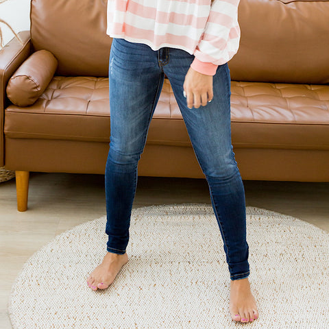 NEW! KanCan Serena Dark Wash Non Distressed Jeans