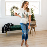"NEW! ""Merry & Bright"" Oatmeal Tee - Arrow Twenty Two"