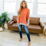Diana Rust Mock Neck Tunic Top - Arrow Twenty Two