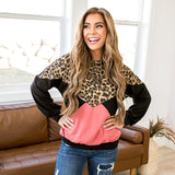 NEW! Allison Leopard, Black and Berry Top - Arrow Twenty Two