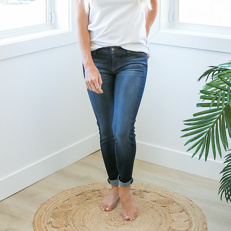 Judy Blue Dark Wash Katie Non Distressed Jeans - Regular and Plus! - Arrow Twenty Two