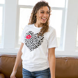 Leopard and Lips White Tee - Arrow Twenty Two