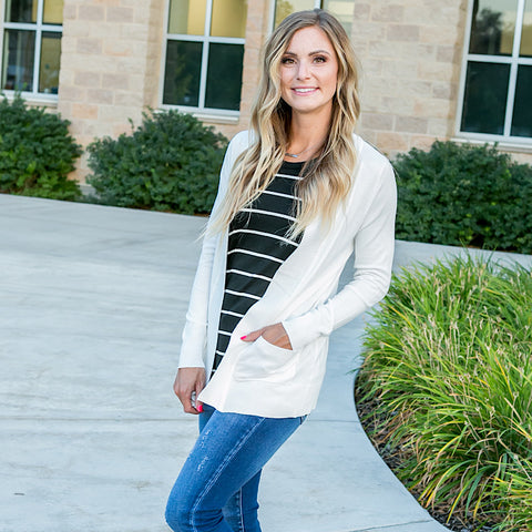 NEW! Favorite Cardigan - Ivory