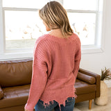 NEW! Kendall Rose Distressed Sweater - Arrow Twenty Two
