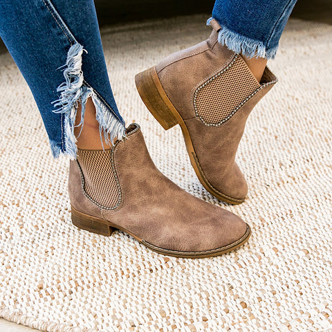 NEW! Chase Bootie - Taupe