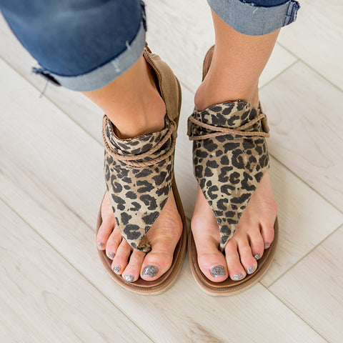 Very G Angelika Tan Leopard Sandals