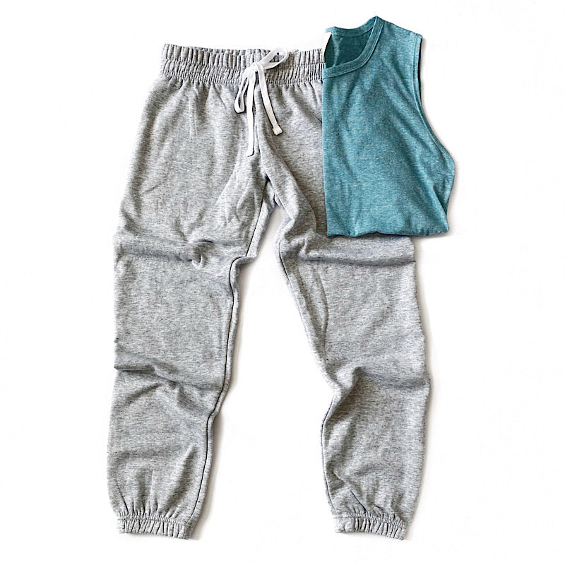 Heather Gray Lounge Joggers - Arrow Twenty Two