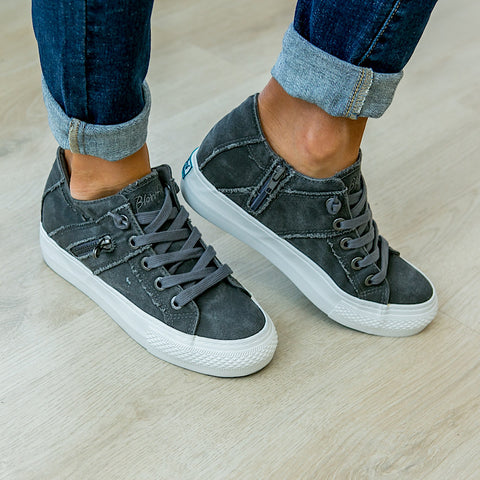Blowfish Melondrop Gray Wedge Sneaker - Arrow Twenty Two