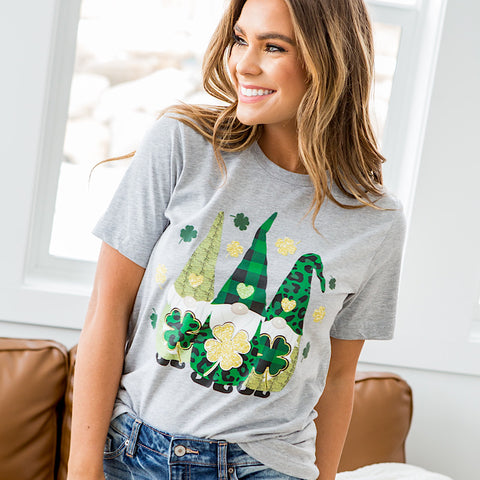 NEW! St Patrick's Day Gnomes Tee