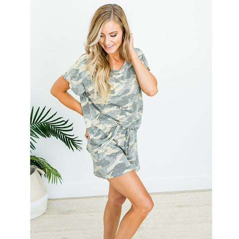 NEW! Faded Camo Lounge Shorts - Arrow Twenty Two