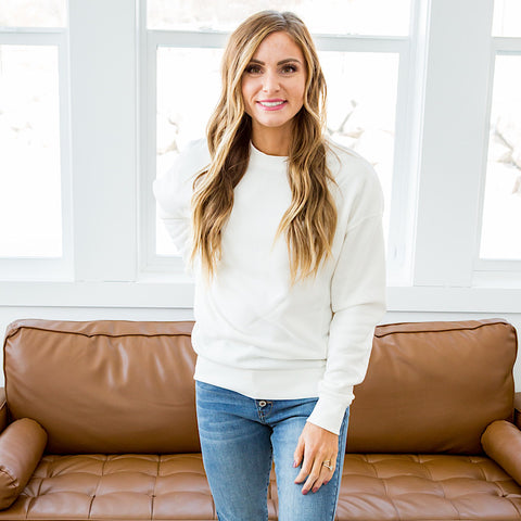 Bailey Ivory Burnout Favorite Sweatshirt