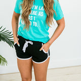 Black Comfy Shorts - Arrow Twenty Two
