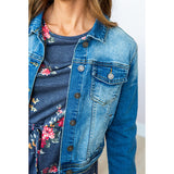 NEW! Medium Wash Denim Jacket - Arrow Twenty Two